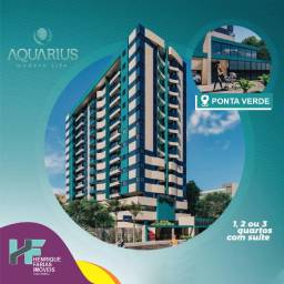 1, 2 ou 3 quartos - Edificio Aquarius na Ponta Verde