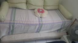 Vendo cama box de solteiro (bicama)