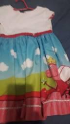 vendo vestido da peppa ping tecido bom idade até 6 anos