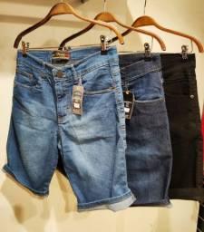 Bermuda jeans Masc com elastano