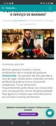 Vaga de emprego Bartender
