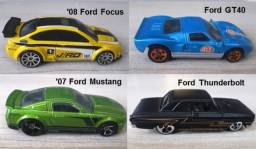 Hot Wheels Ford Lote com 04 miniaturas 1:64