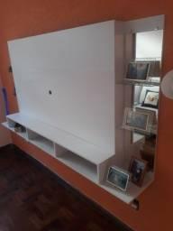 Painel p/ TV até 65 Pol. Com espelho NAIROBI PLUS, Multi móveis Branco