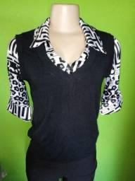 Título do anúncio: Blusa Feminina Estilo Camisa - Tamanho M
