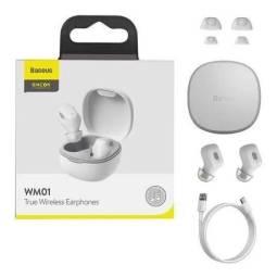 Título do anúncio: Fone Bluetooth Baseus Original | Branco | Diversas Cores