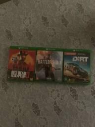 Estou vendendo esses 3 jogos de xbox one