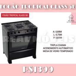Fogão Tropical Glass 5B fogão tropical glass fogão fogão fogão 00