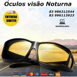 Óculos Visão Noturna Night Vision Dirigir A Noite - Promoção
