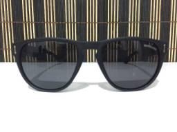 (Aceito cartão) Óculos solar unissex Redondo - Lente: Preta modelo Quiksilver
