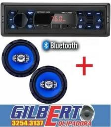 Radio com Bluetooth e Alto de 6 Instalação Gratis
