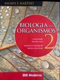 Livro  de Biologia dos Organismos 2 - Amabis e Martho R$ 35,00