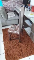 Vende se 6 cadeiras de madeira maciça( sucupira )