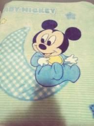 Cobertor bebê Jolitex antialérgico + 5 fraldas de banho