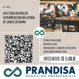 7001 Cafeteria dentro de supermercado, no litoral de Santa Catarina