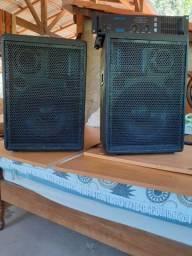 Amplificador oneel 2000+2caixa de som