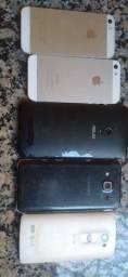 Aparelhos celulares para retirada de pecas