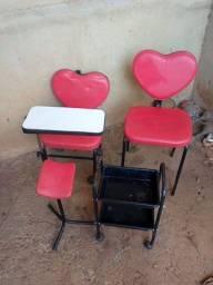 Kit de cadeiras de manicure