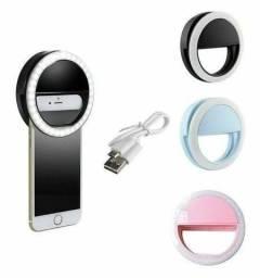 Ringlight portátil recarregável para celulares/ Melhore ainda mais suas fotos