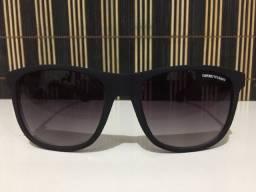 (Aceito cartão) Óculos solar unissex Quadrado, lente: Preta, Emporio Armani