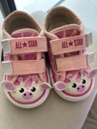 Tênis All Star girafa rosa