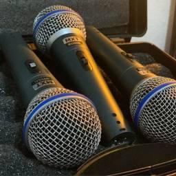 Kit de microfone mx de R$400,00 por R$350,00 a entrega sai na faixa
