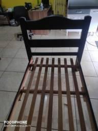 cama solteiro madeira usada