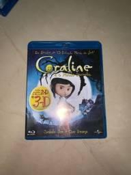 DVD Blu-ray 3D Coraline e o Mundo Secreto