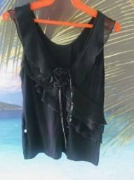 Título do anúncio: Blusa preta com babados