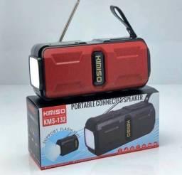 (NOVO) Caixa De Som Portátil Celular Bluetooth com Energia Solar e Lanterna led
