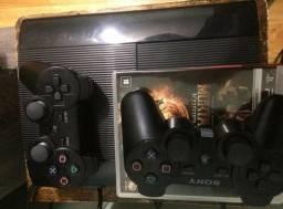 Playstation 3 PS3 250GB + 2 JOGOS ORIGINAIS MIDIA FISICA