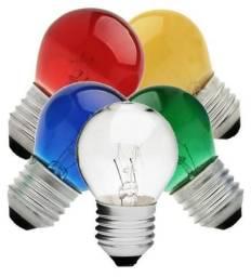 Lampada 15w Bolinha E27 Coloridas