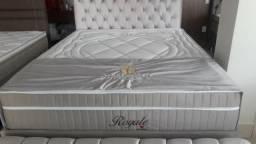 ::: Conjunto Cama Box Colchao Montreal Royale Queen Size 158x198 Luxo e Qualidade Confira