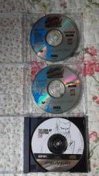 Sega saturn três jogos originais 300,00 sair rápido