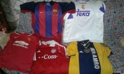 Lote camisas times variados originais fe9dd7b8c8f1b
