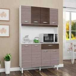 Renove sua cozinha! Kit Cássia Armário de cozinha 106X172cm Com 8 Portas E 1 Gaveta