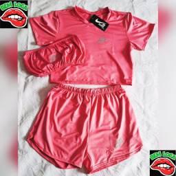 Kit Shortes + Cropped+ Blusinha