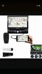 Som pósitron retrátil Bluetooth tv digital tela de 7