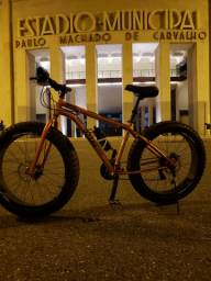 Fat bike aro 26 7x3 21v bicicleta big ñ é aro 29