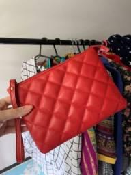 Necessaire vermelha de couro Smartbag