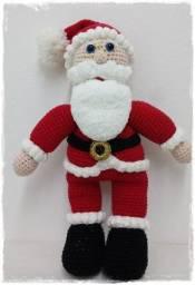Boneco : Papai Noel em crochê amigurumi - sob encomenda