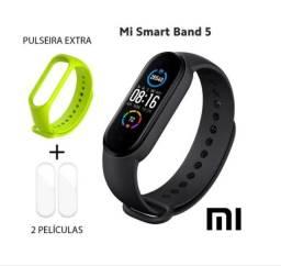 Relógio Smartwatch MI Band 5 Xiaomi + 2 películas + pulseira extra