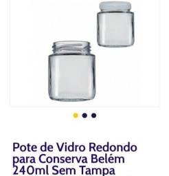 Vendo potes de vidro com tampa novos