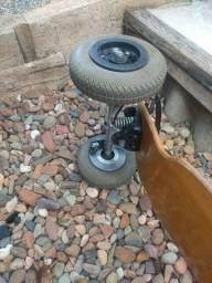 Skate Drop carve board com freio de mão