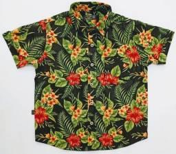 Camisa infantil floral 4 anos