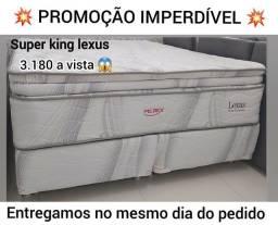 Cama Super King PELMEX PROMOÇÃO  - nova de fábrica com entrega grátis