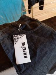 Calça jeans preta kafeine nova com etiqueta