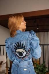 Jaqueta jeans olho grego