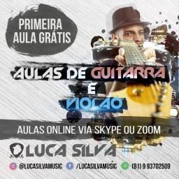 Aulas de Violão ou Guitarra Online (Via Skype ou Zoom) Aula Experimental Grátis!