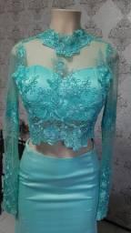 Vestido de festa longo cropped - Madrinhas de casamento