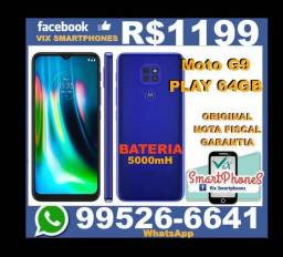 Motorola Moto G9 Play 64GB caixa/lacrada/Nota/Fiscal